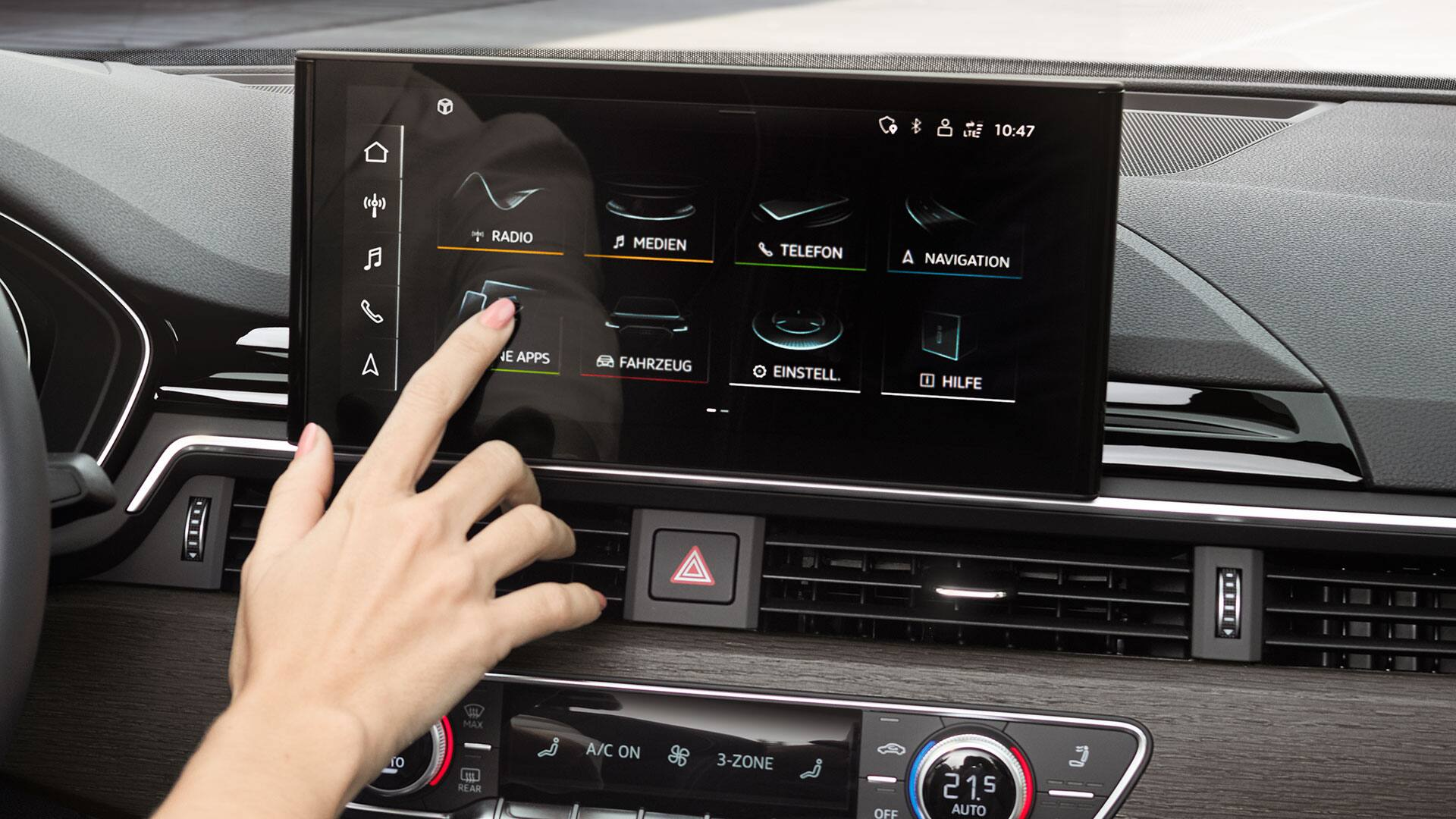 MMI touch-display i Audi A5 Sportback