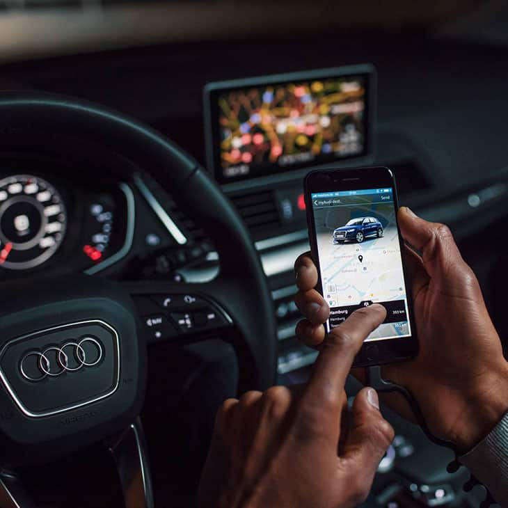 Audi connect will let you know the best route and will provide you with the latest information.